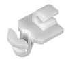Door Lock Rod Clip; Rod Size: 2,5Mm, White Nylon