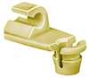 Door Lock Rod Clip; Rod Size: 4Mm, Yellow Nylon