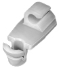 Door Lock Rod Clip; Rod Size: 4Mm, White Nylon