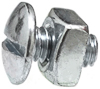 Truss Hd Lic. Plate Bolt And Nut 1/4-20 X 1/2