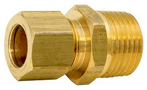 Brass Male Connector 5/16 Tube Sz 1/8 Thrd