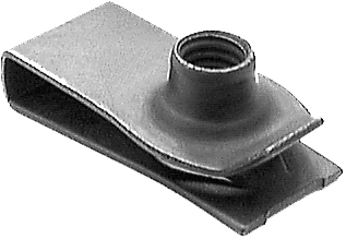 M6-1.0 Screw Size, 19.5mm Hole Center To Edge, Extruded U Nut  Phosphate