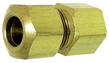 Brass Female Connector 1/8 Tube Sz 1/8 Thread