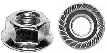 #10-24 SPIN LOCK Nut With SERR. 1/2 OD