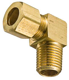 Brass Male Elbow 3/16 Tube Size 1/8 Thread
