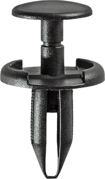 "43/64""(17mm) Push Type Retainer Black Fits in 15/64"" Hole"