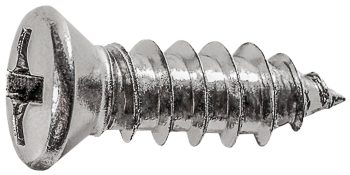 Phillips Oval #6 Hd Tap Screw 8  X 1/2 CHROME