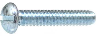 10-24 X 1 Slotted Round Hd Machine Screw Zinc