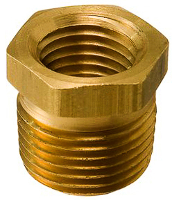 Brass Bushing 1/2 Ext. Thread 1/4 Int Thread