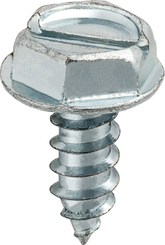 6 X 3/8 Slotted Hex Washer Head Tap Screw Zinc