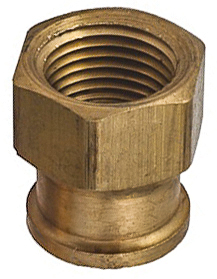 Brass Reducing Coupling 3/8 Thrd A 1/8 Thrd B