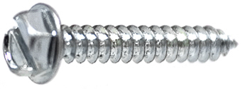 10 X 5/8 Slotted Hex Washer Head Tap Screw Zinc