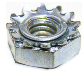 10-32 Hex Keps Nuts Zinc