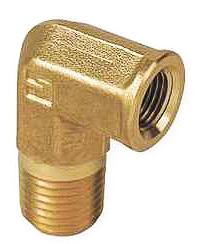 Brass Pipe Elbow 3/8 Int Thread 3/8 Ext Thread