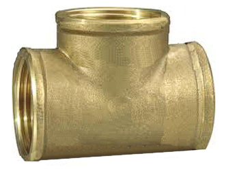 Brass Tee 1/4 Pipe Thread
