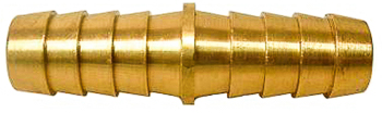 Barbed Hose Coupler Brass 1/4 I.D.