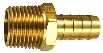 Hose Barb To Taper Male Pipe 1/4 I.D. 1/4 Thrd
