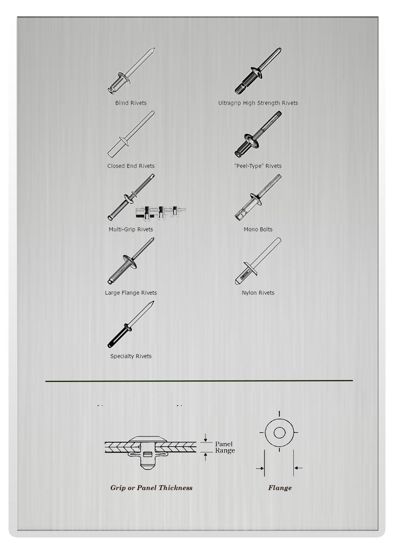 0.125 Inch 0. , Marson Klik-Fast Open End SC4-4 Open End Blind Rivet; 1//8 Inch